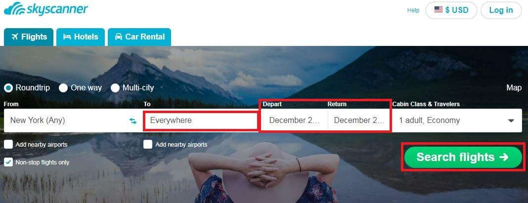 Skyscanner-Tutorial-Everywhere